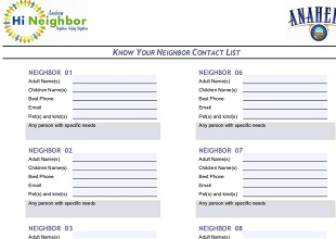 Emergency Contact List Template 08