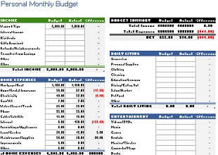 Monthly budget template 17