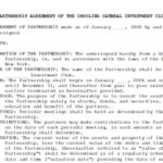 Partnership Agreement Templates