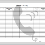 Phone Call Log Templates