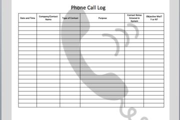 Phone Call Log Template