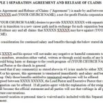 Separation Agreement Templates