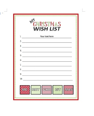 Christmas Gift List Template 18 Office Templates