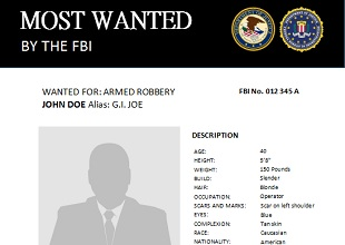 Fbi Most Wanted Poster Template from www.officetemplates.org
