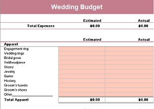 24 Free Wedding Budget Templates In Ms Excel Office Templates