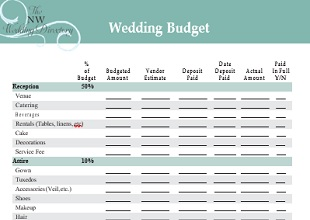 wedding budget template 14