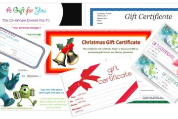 Gift Certificate Templates