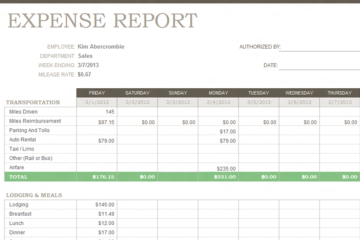 Weekly-Expense-Report-Template