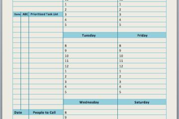 Weekly Task Planner Template