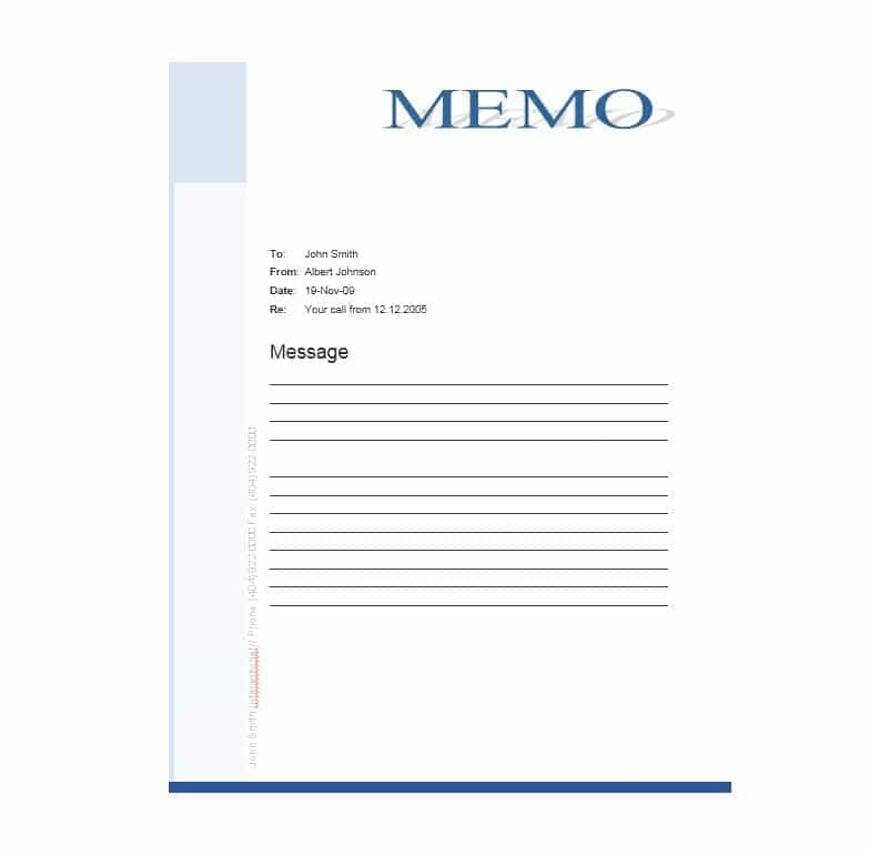 44 Free Office Memo Templates Using Ms Word And In Pdf Format