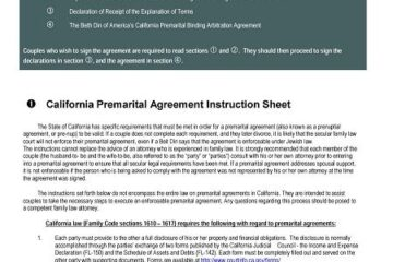 Prenuptial Agreement Template 02
