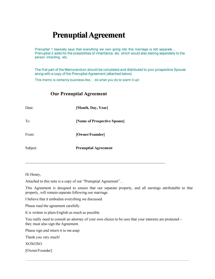 Prenuptial Agreement Template 04