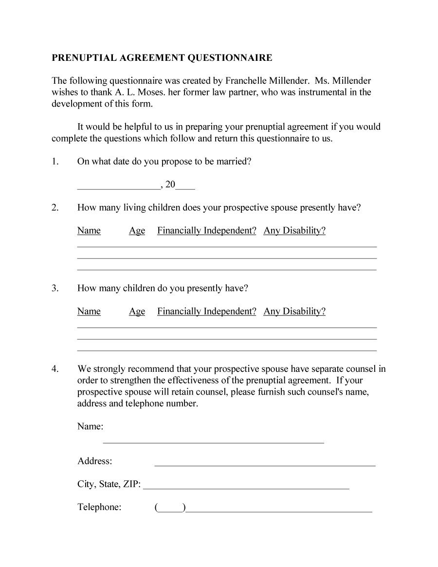 Prenuptial Agreement Template 07