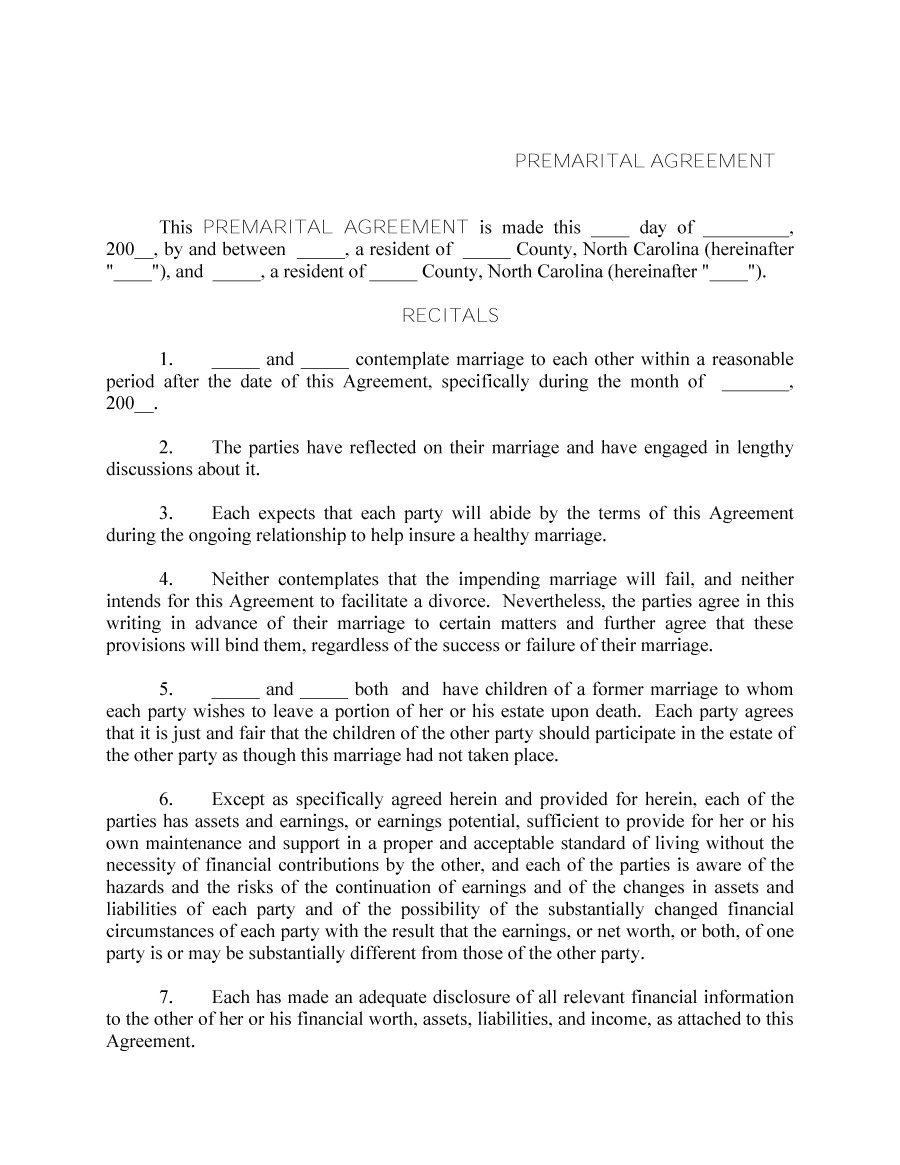 Prenuptial Agreement Template 13