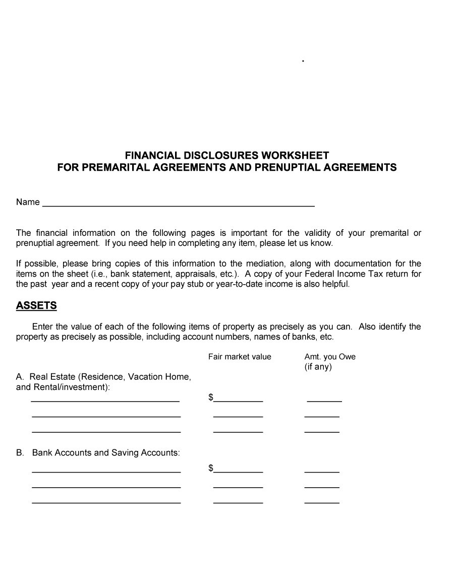Prenuptial Agreement Template 15