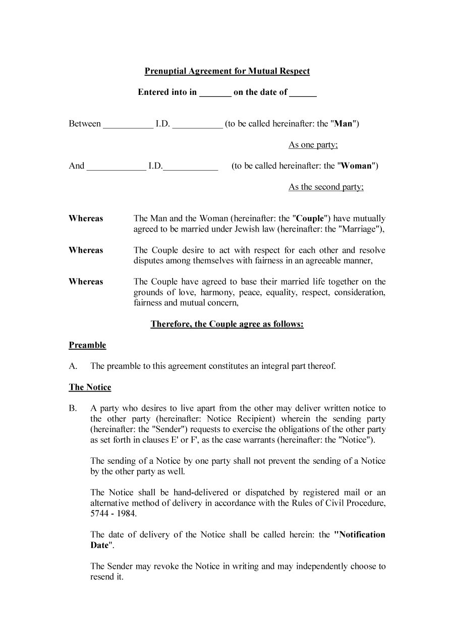 Prenuptial Agreement Template 16