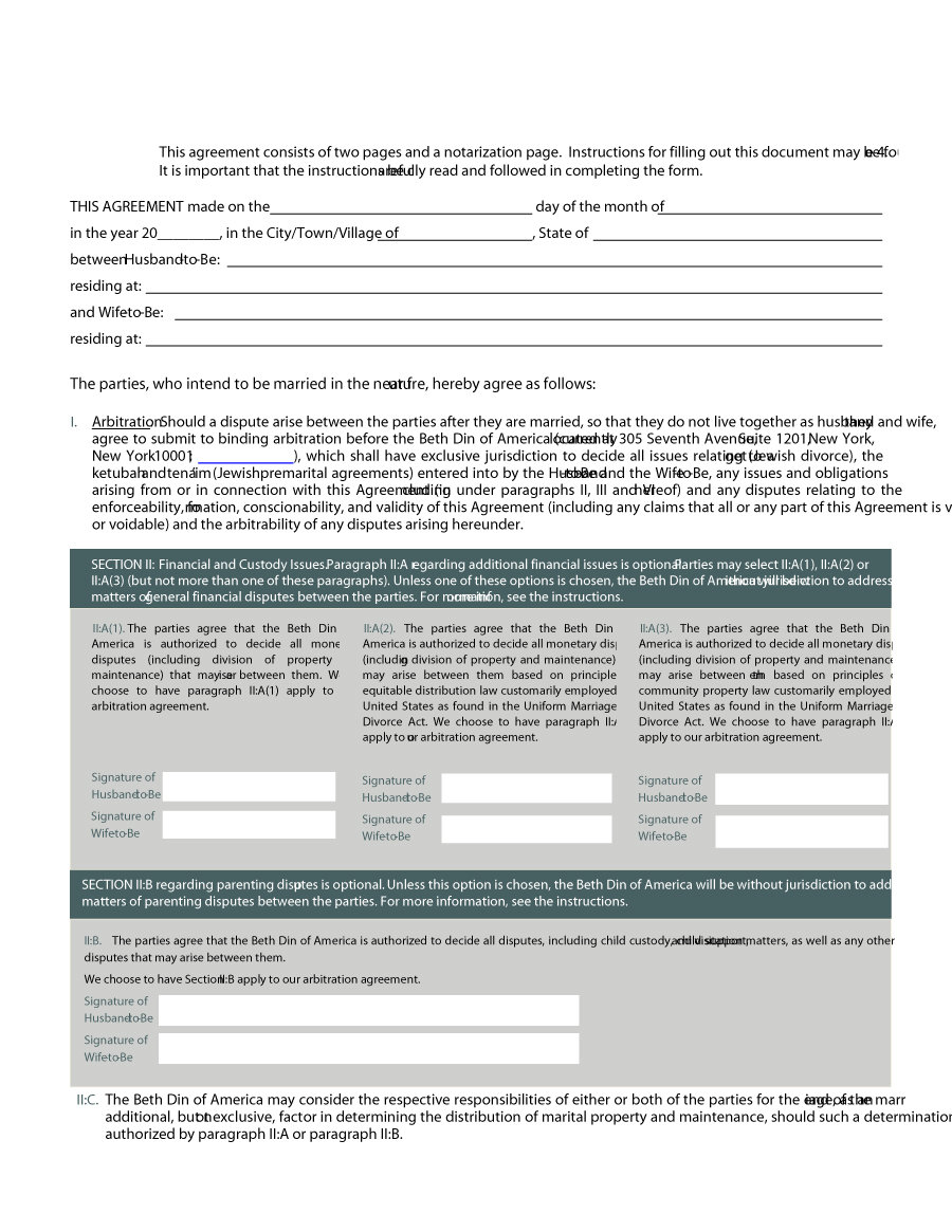 Prenuptial Agreement Template 19