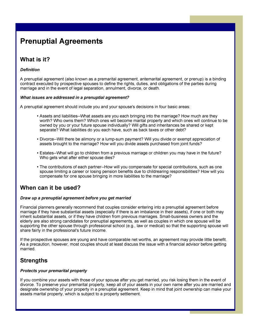 Prenuptial Agreement Template 23