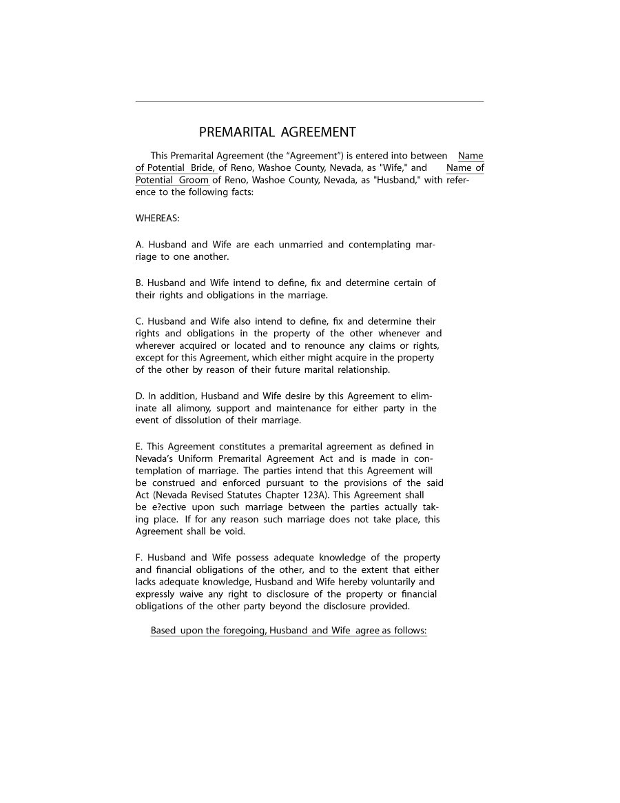 Prenuptial Agreement Template 24